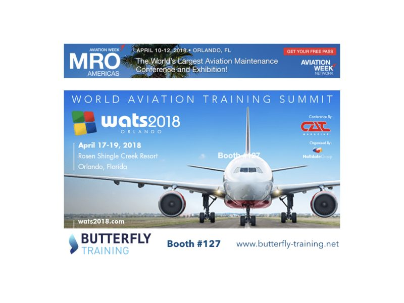 Butterfly Training @Aviation Conferences those weeks !