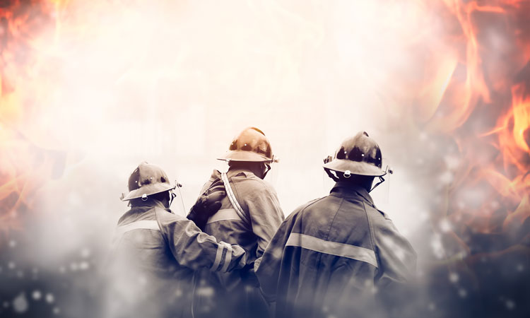 Firefighters uses virtual training